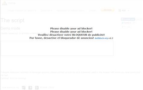 Anti Adblock Script デモページ Adblock Plusを使っている場合