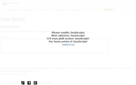 Anti Adblock Script デモページ  JavaScriptを無効にしている場合
