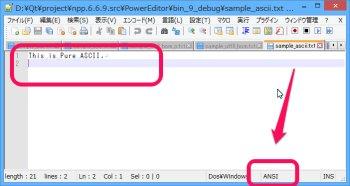 Notepad++ ASCII