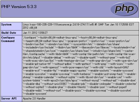KDDI クラウドコア(CloudCore) でApache+PHP起動