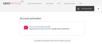 Genymotionの公式サイト