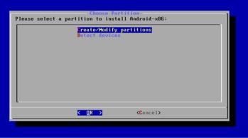 Android x86 ディスクパーティション作成1