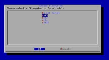 Android x86 ディスクパーティション選択2