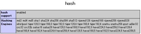 php info hash ページ