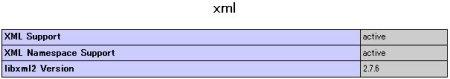php info xml ページ