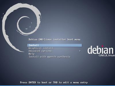 Debian 7 インストール開始