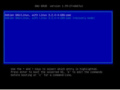 Debian 7 システムリブート