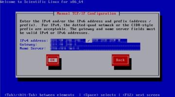 Scientific Linux インストール ネットワーク設定