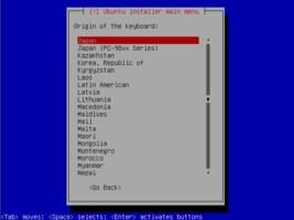 Ubuntu  インストール キーボード設定