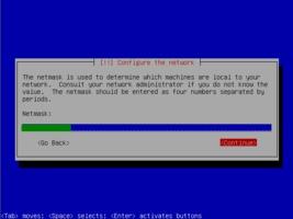 Ubuntu  インストール ネットマスク設定