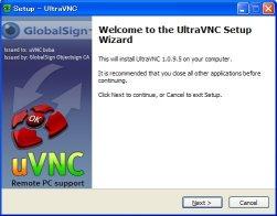 UltraVNCインストール1
