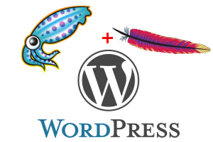 wordpress squid apache